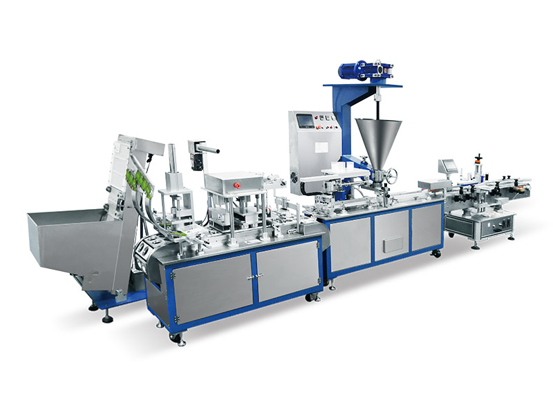 Automatic Play Dough Cup Filling And Capping Machine